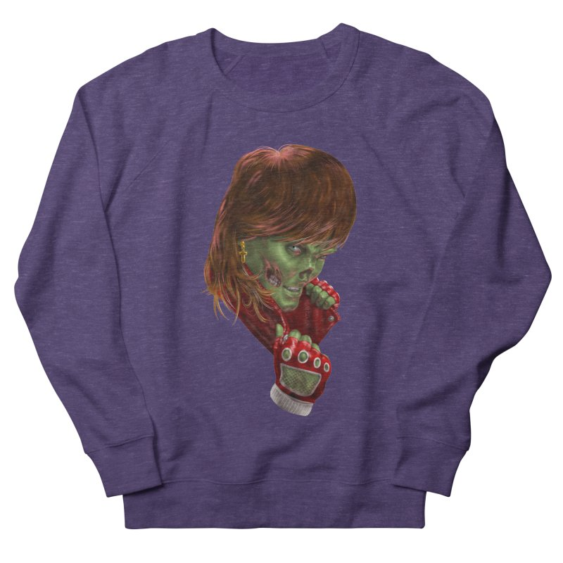 Didn't Die in '85 (eighties zombie) Men's French Terry Sweatshirt by Ayota Illustration Shop
