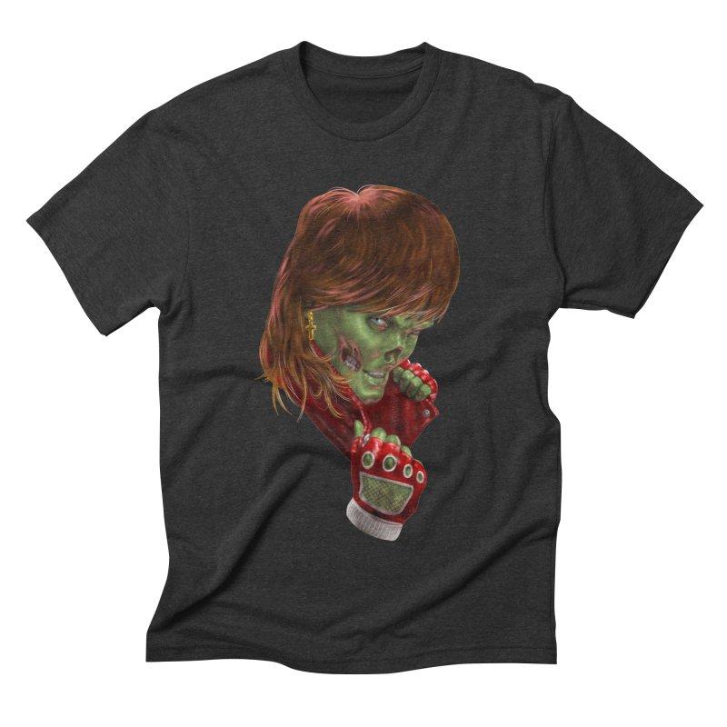 Didn't Die in '85 (eighties zombie) Men's Triblend T-Shirt by Ayota Illustration Shop