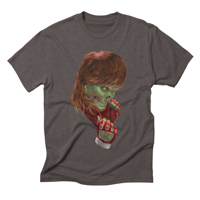 Didn't Die in '85 (eighties zombie) Men's Triblend T-Shirt by Ayota Illustration Shop