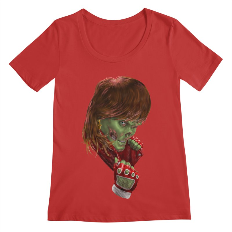 Didn't Die in '85 (eighties zombie) Women's Regular Scoop Neck by Ayota Illustration Shop