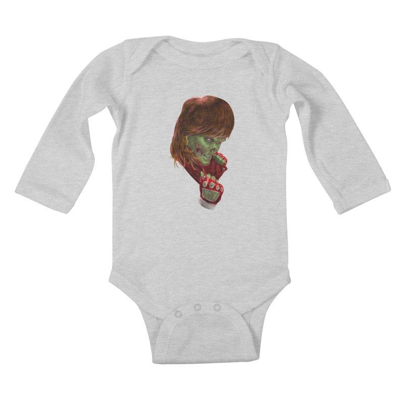 Didn't Die in '85 (eighties zombie) Kids Baby Longsleeve Bodysuit by Ayota Illustration Shop