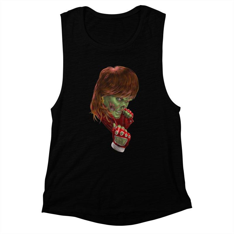 Didn't Die in '85 (eighties zombie) Women's Tank by Ayota Illustration Shop