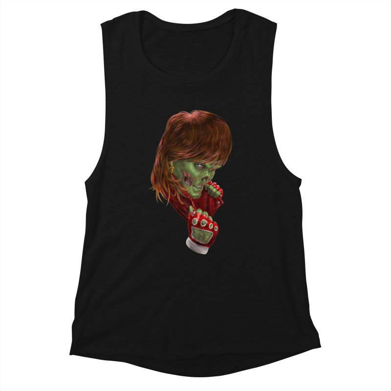 Didn't Die in '85 (eighties zombie) Women's Tank by Ayota Illustration Shop