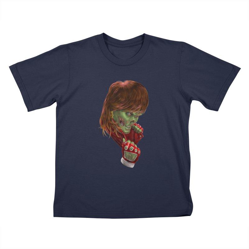 Didn't Die in '85 (eighties zombie) Kids T-Shirt by Ayota Illustration Shop