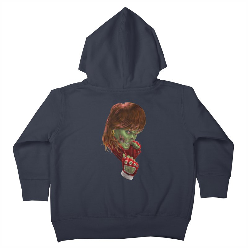 Didn't Die in '85 (eighties zombie) Kids Toddler Zip-Up Hoody by Ayota Illustration Shop