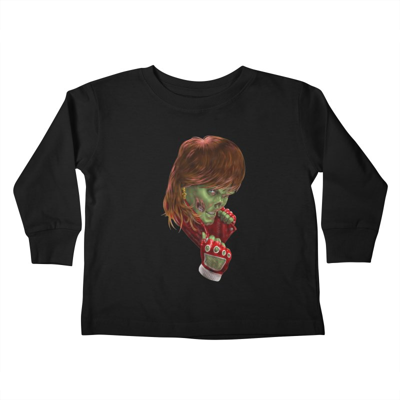Didn't Die in '85 (eighties zombie) Kids Toddler Longsleeve T-Shirt by Ayota Illustration Shop