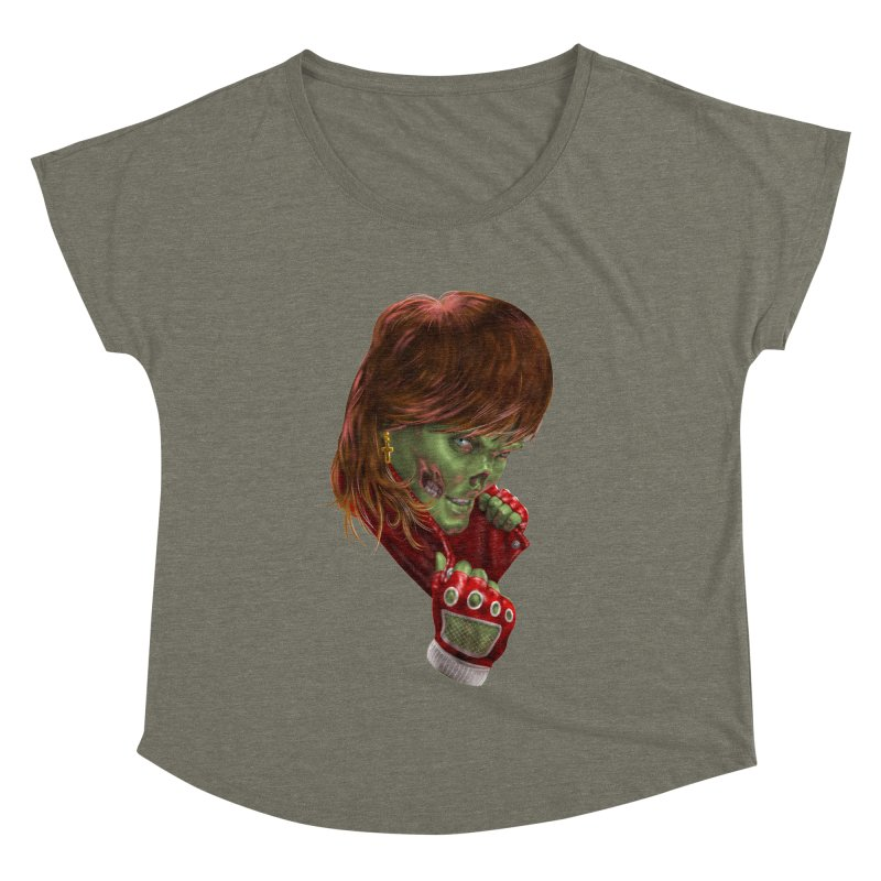 Didn't Die in '85 (eighties zombie) Women's Scoop Neck by Ayota Illustration Shop