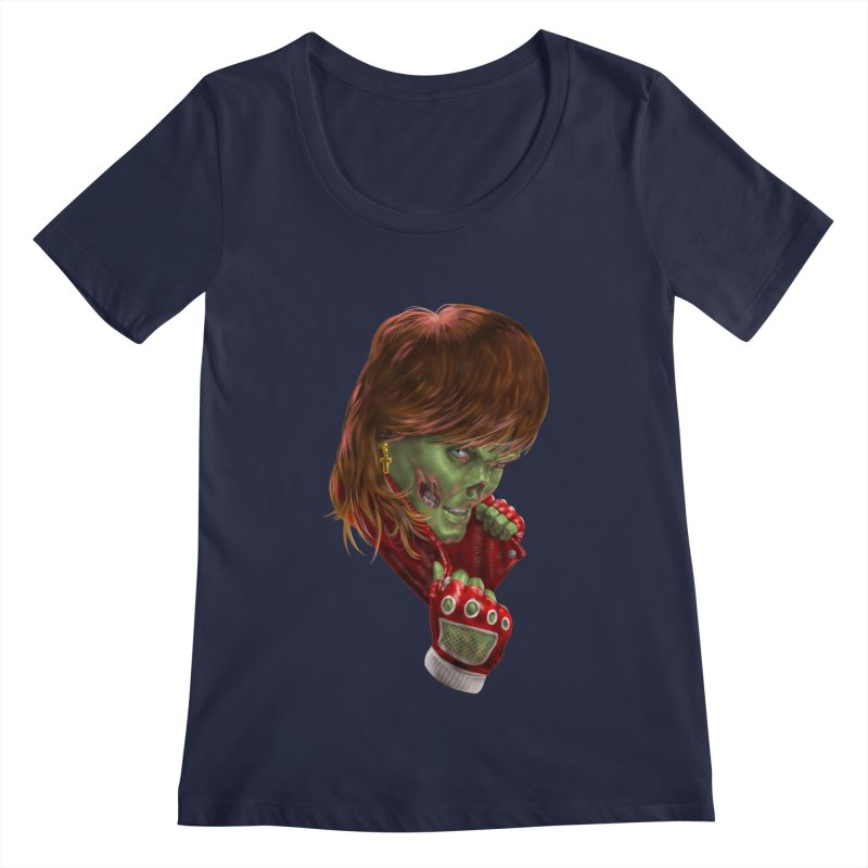 Didn't Die in '85 (eighties zombie) Women's Regular Scoop Neck by Ayota Illustration Shop