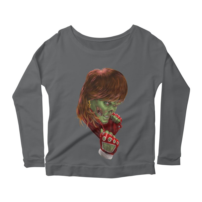 Didn't Die in '85 (eighties zombie) Women's Scoop Neck Longsleeve T-Shirt by Ayota Illustration Shop