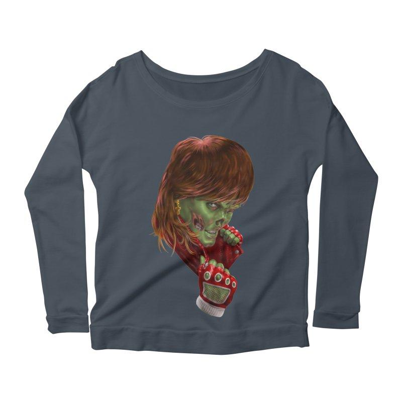 Didn't Die in '85 (eighties zombie) Women's Scoop Neck Longsleeve T-Shirt by Ayota Illustration Shop