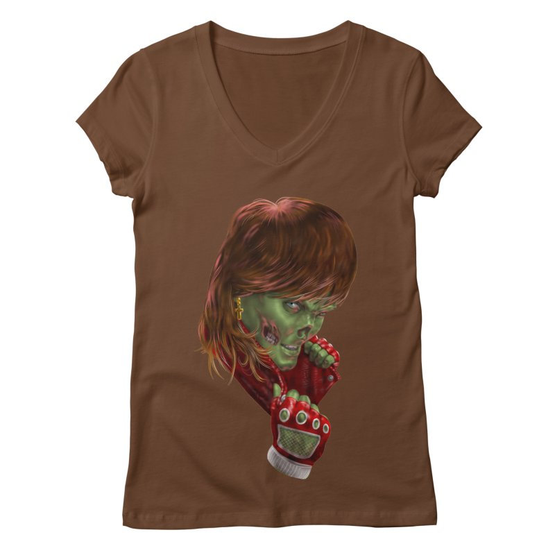 Didn't Die in '85 (eighties zombie) Women's Regular V-Neck by Ayota Illustration Shop