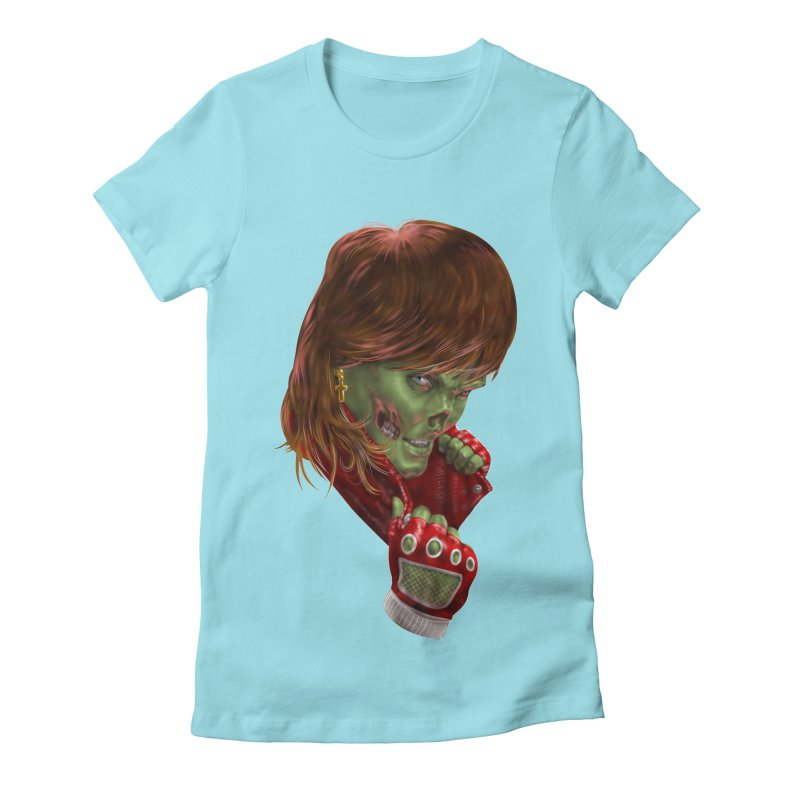 Didn't Die in '85 (eighties zombie) Women's T-Shirt by Ayota Illustration Shop