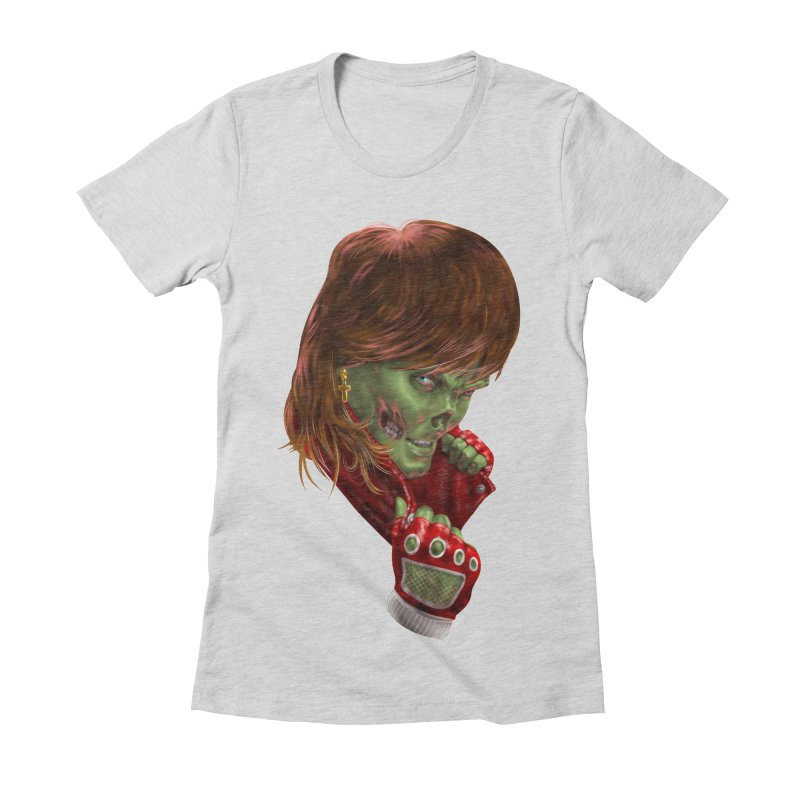 Didn't Die in '85 (eighties zombie) Women's Fitted T-Shirt by Ayota Illustration Shop