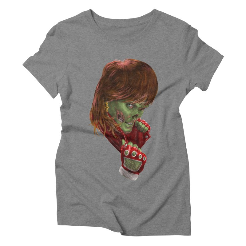 Didn't Die in '85 (eighties zombie) Women's Triblend T-Shirt by Ayota Illustration Shop