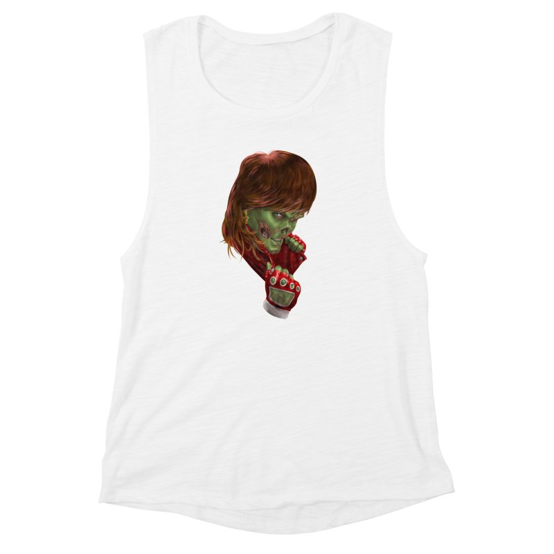 Didn't Die in '85 (eighties zombie) Women's Muscle Tank by Ayota Illustration Shop