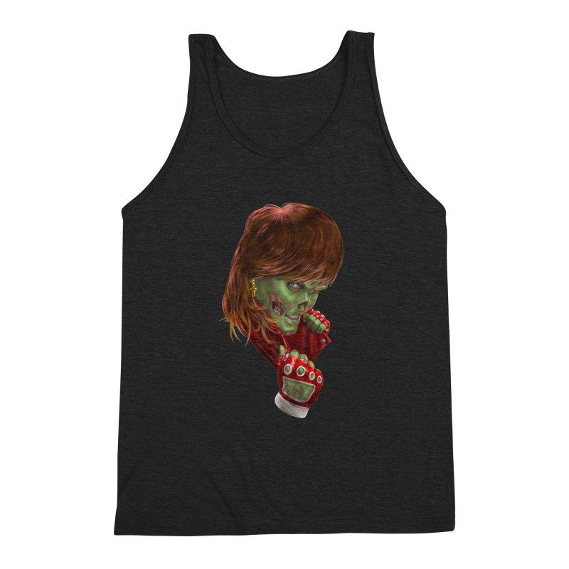 Didn't Die in '85 (eighties zombie) Men's Triblend Tank by Ayota Illustration Shop