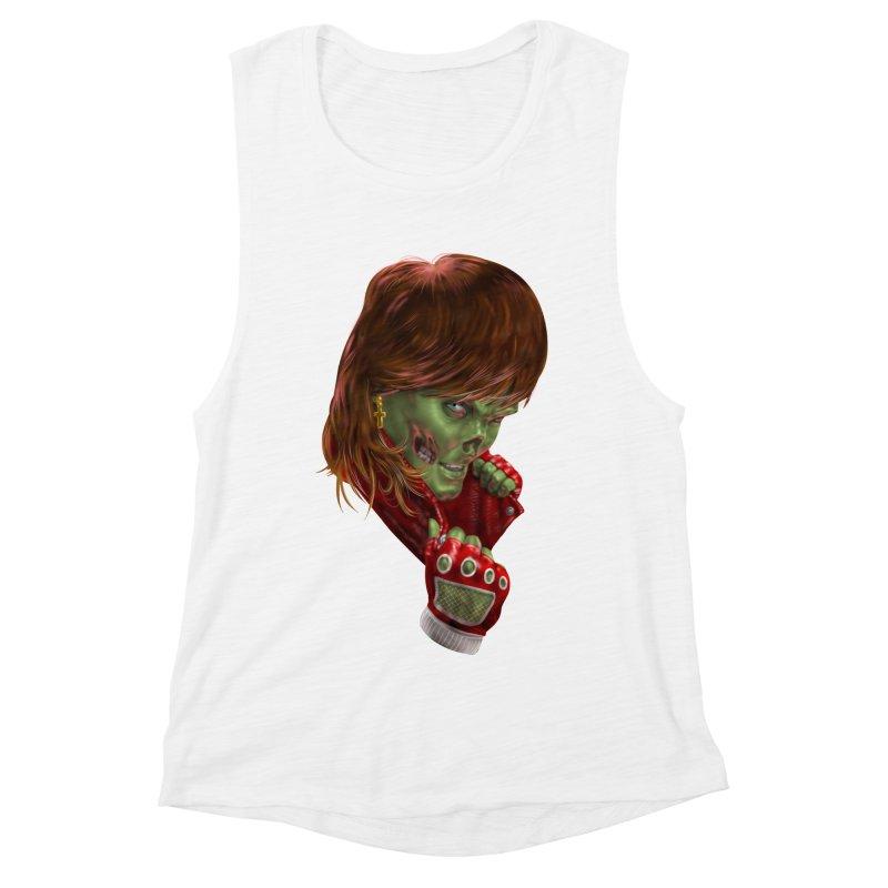 Didn't Die in '85 (eighties zombie) Women's Muscle Tank by Ayota Illustration Shop