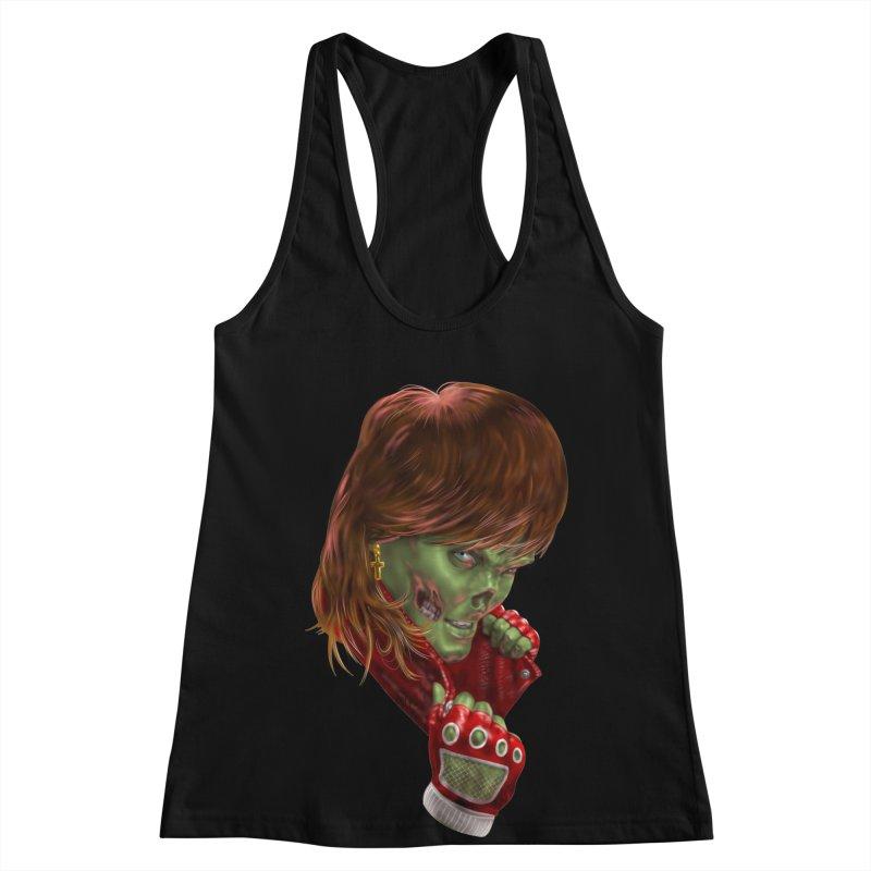 Didn't Die in '85 (eighties zombie) Women's Racerback Tank by Ayota Illustration Shop