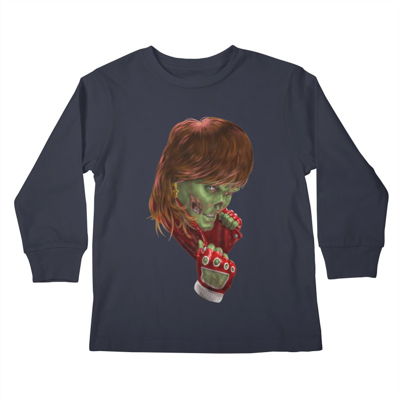 Didn't Die in '85 (eighties zombie) Kids Longsleeve T-Shirt by Ayota Illustration Shop