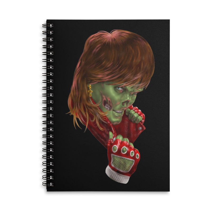 Didn't Die in '85 (eighties zombie) Accessories Lined Spiral Notebook by Ayota Illustration Shop