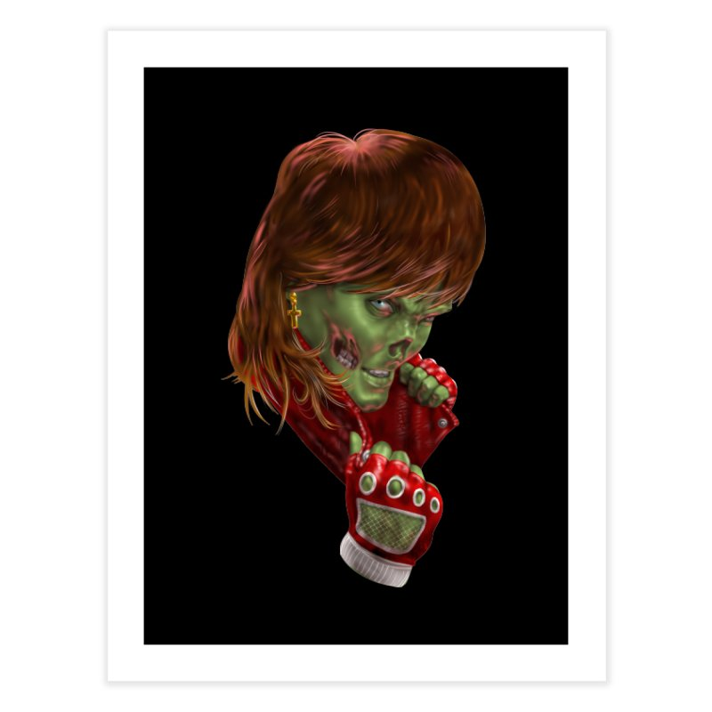 Didn't Die in '85 (eighties zombie) Home Fine Art Print by Ayota Illustration Shop