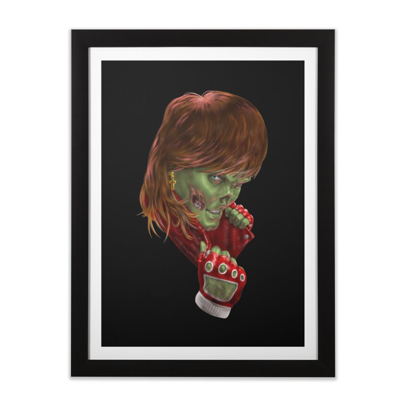 Didn't Die in '85 (eighties zombie) Home Framed Fine Art Print by Ayota Illustration Shop