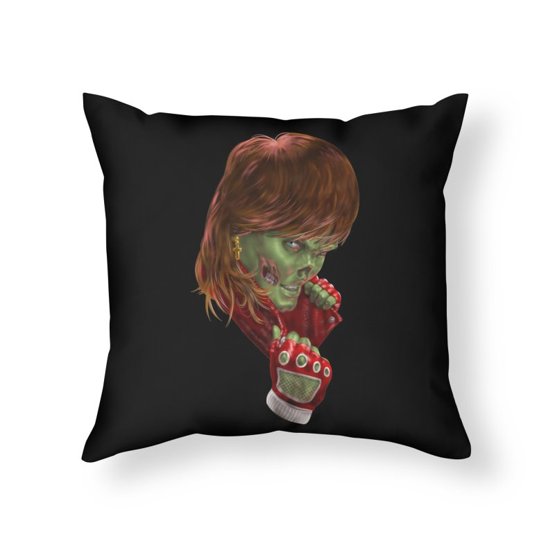 Didn't Die in '85 (eighties zombie) Home Throw Pillow by Ayota Illustration Shop