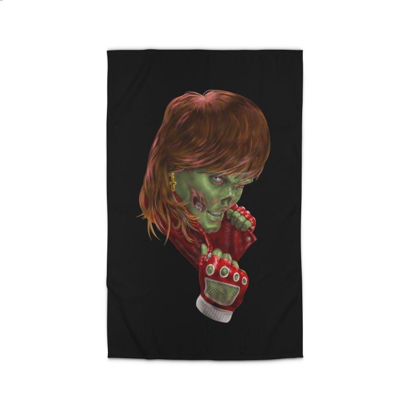 Didn't Die in '85 (eighties zombie) Home Rug by Ayota Illustration Shop