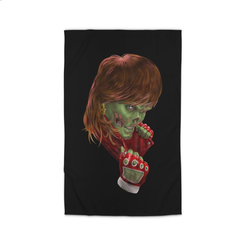 Didn't Die in '85 (eighties zombie) Home Rug by Ayota Illustration Shop