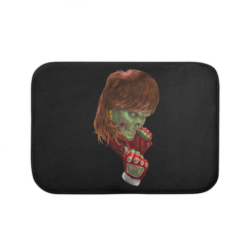 Didn't Die in '85 (eighties zombie) Home Bath Mat by Ayota Illustration Shop