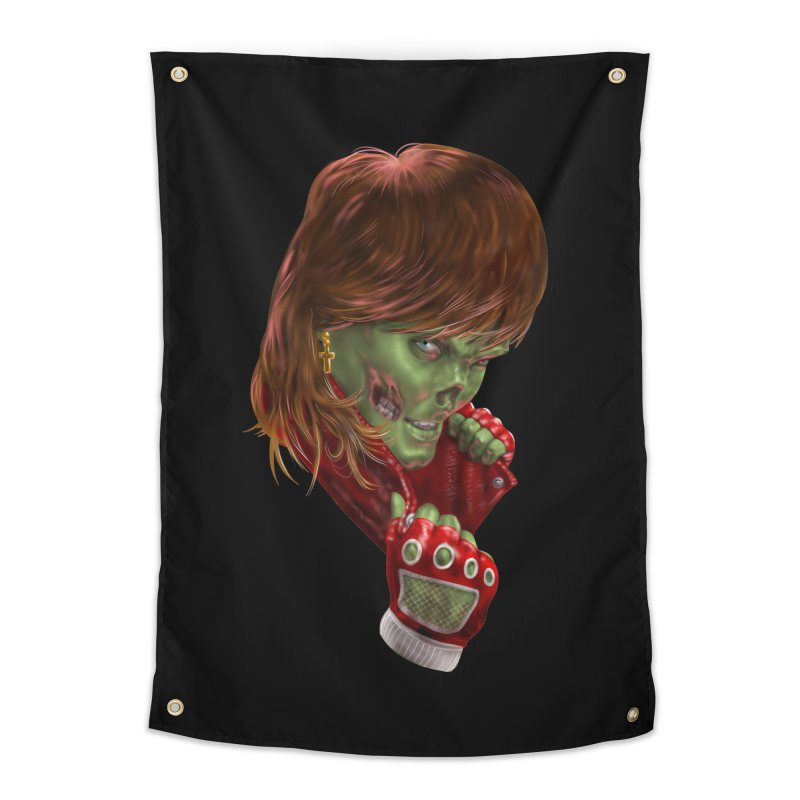 Didn't Die in '85 (eighties zombie) Home Tapestry by Ayota Illustration Shop