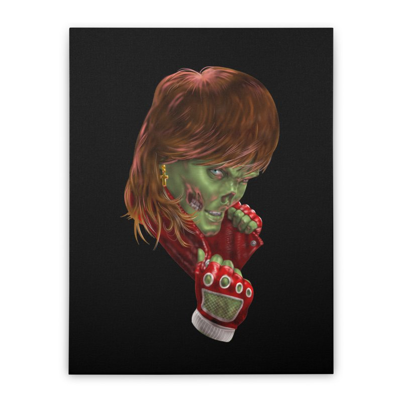 Didn't Die in '85 (eighties zombie) Home Stretched Canvas by Ayota Illustration Shop