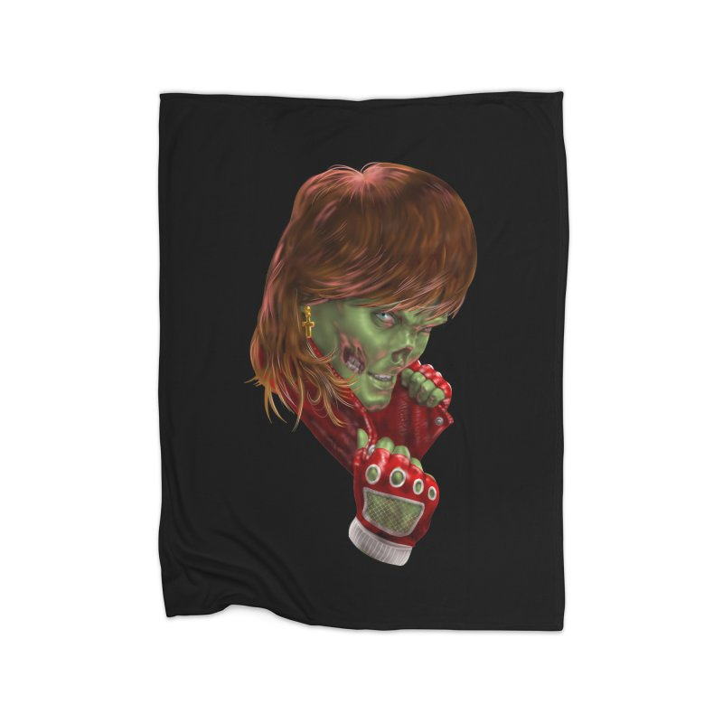 Didn't Die in '85 (eighties zombie) Home Blanket by Ayota Illustration Shop