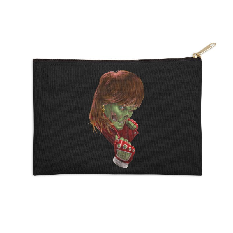 Didn't Die in '85 (eighties zombie) Accessories Zip Pouch by Ayota Illustration Shop