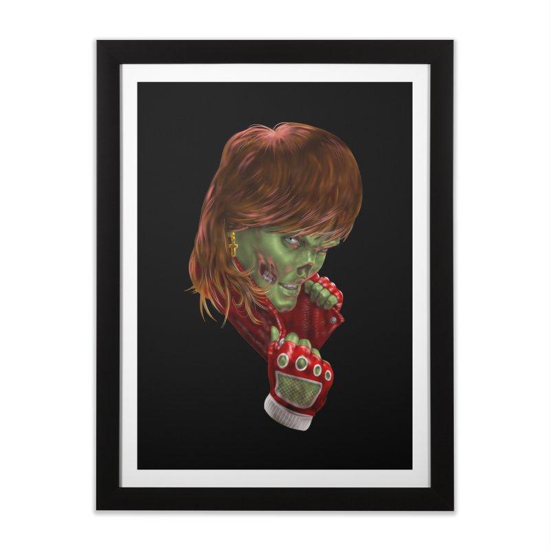 Didn't Die in '85 (eighties zombie) Home Framed Fine Art Print by Ayota Illustration Shop