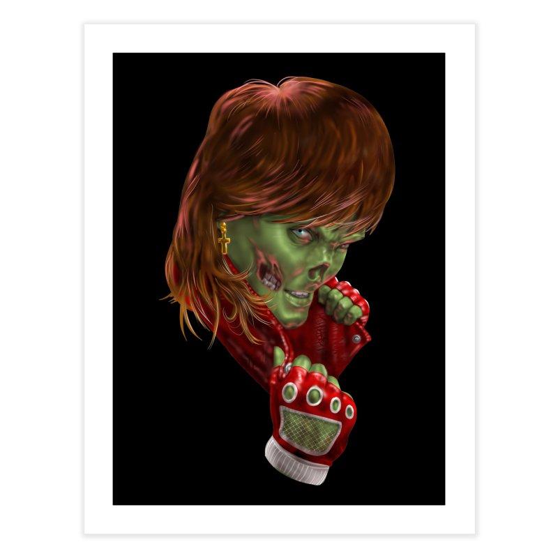 Didn't Die in '85 (eighties zombie) Home Fine Art Print by Ayota Illustration Shop