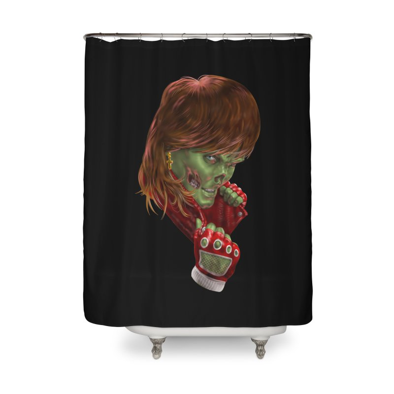 Didn't Die in '85 (eighties zombie) Home Shower Curtain by Ayota Illustration Shop