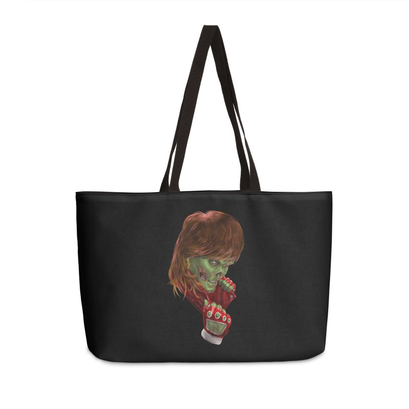 Didn't Die in '85 (eighties zombie) Accessories Weekender Bag Bag by Ayota Illustration Shop