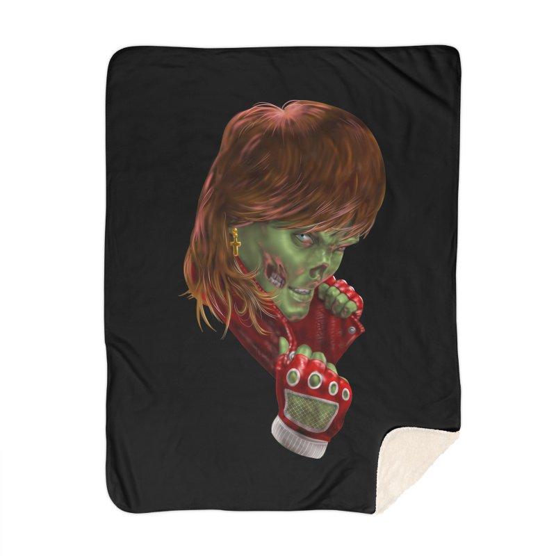 Didn't Die in '85 (eighties zombie) Home Blanket by Ayota Illustration Shop