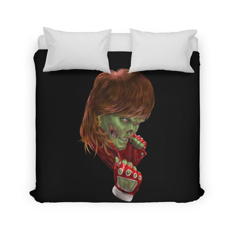 Didn't Die in '85 (eighties zombie) Home Duvet by Ayota Illustration Shop