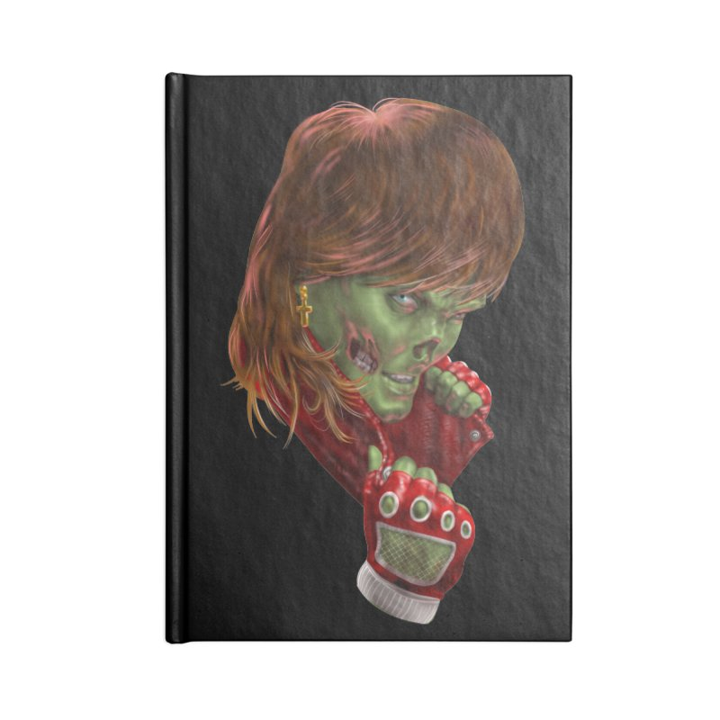 Didn't Die in '85 (eighties zombie) Accessories Lined Journal Notebook by Ayota Illustration Shop