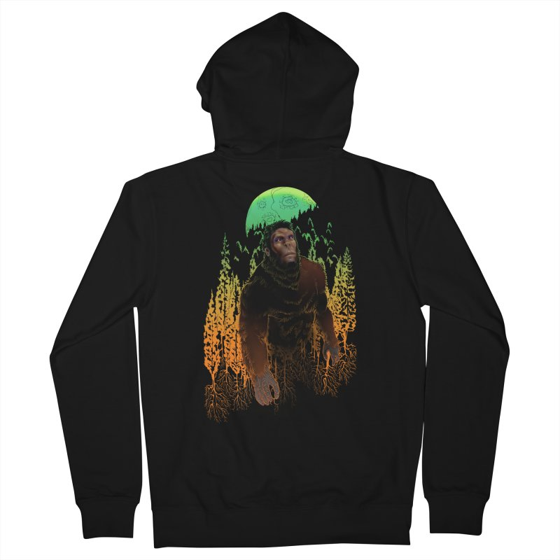 Sasquatch Men's Zip-Up Hoody by Ayota Illustration Shop