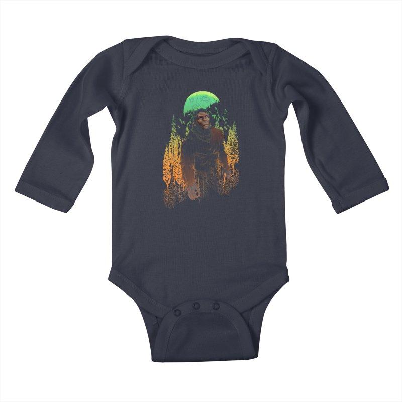 Sasquatch Kids Baby Longsleeve Bodysuit by Ayota Illustration Shop