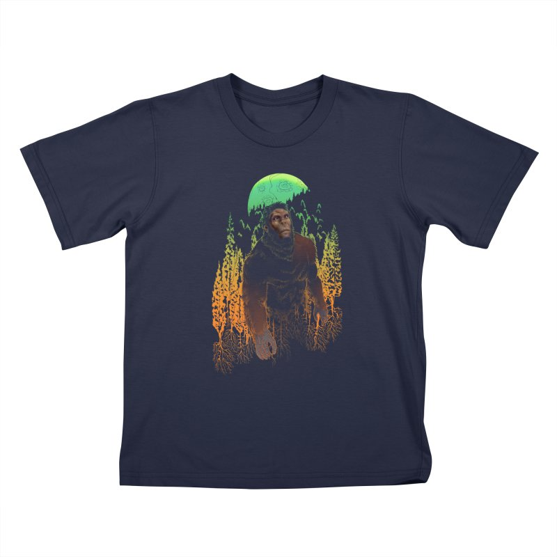 Sasquatch Kids T-Shirt by Ayota Illustration Shop