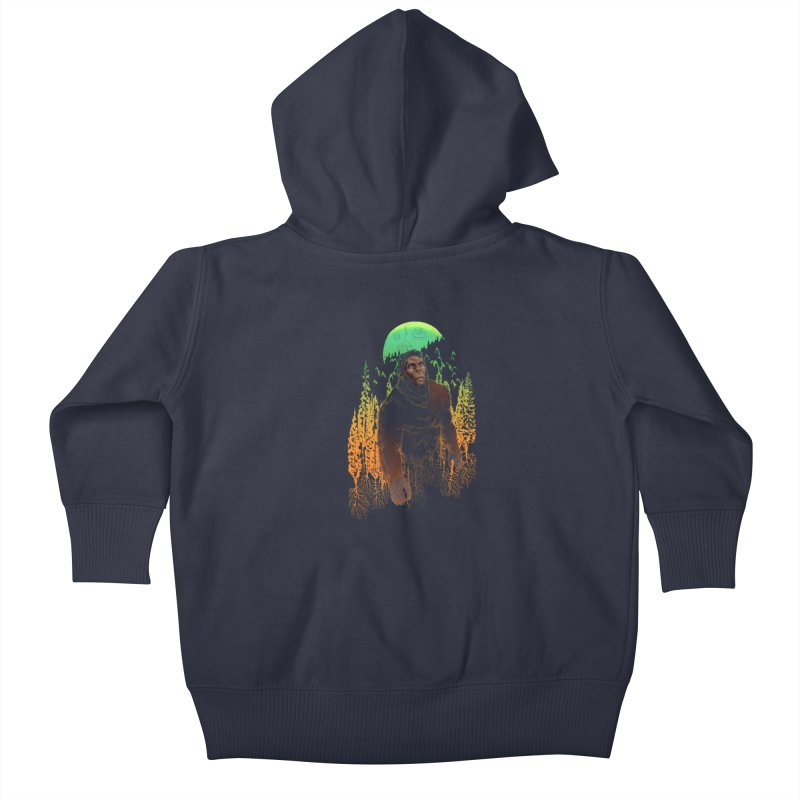 Sasquatch Kids Baby Zip-Up Hoody by Ayota Illustration Shop