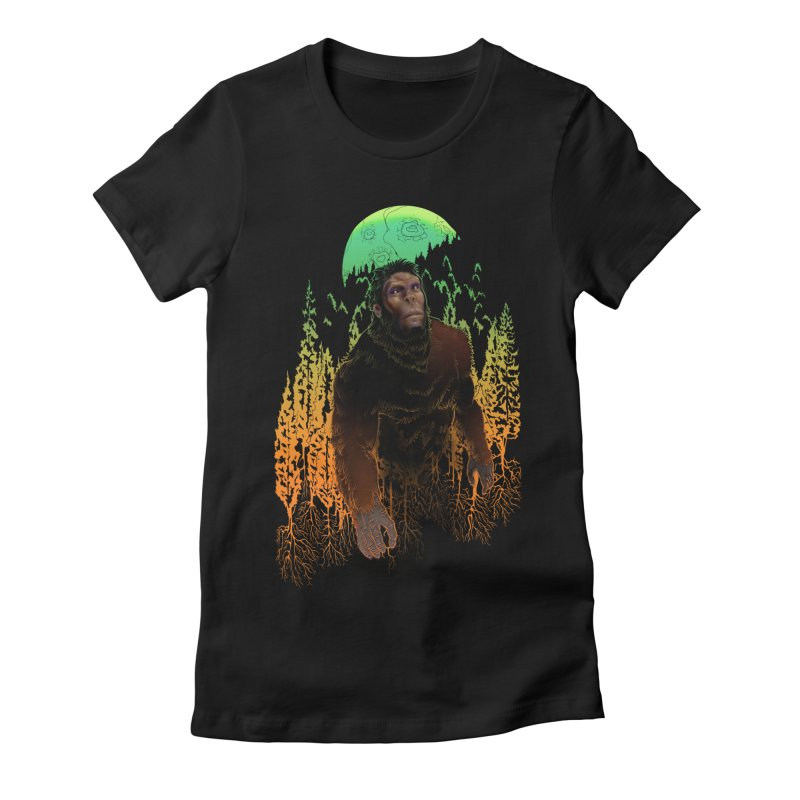 Sasquatch Women's T-Shirt by Ayota Illustration Shop