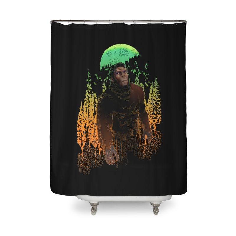 Sasquatch Home Shower Curtain by Ayota Illustration Shop