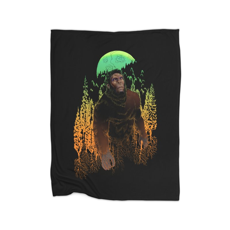 Sasquatch Home Blanket by Ayota Illustration Shop
