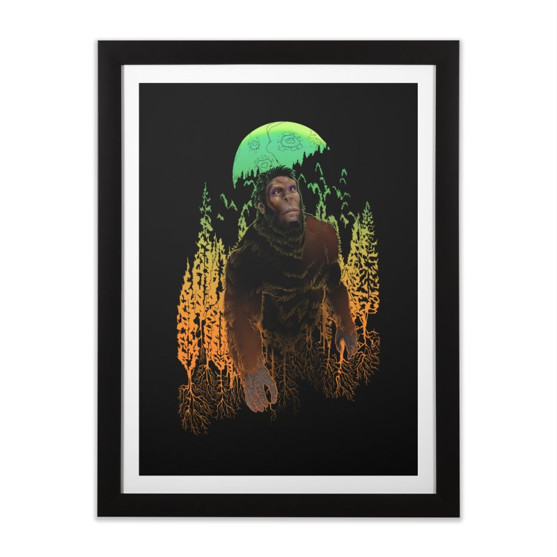 Sasquatch Home Framed Fine Art Print by Ayota Illustration Shop