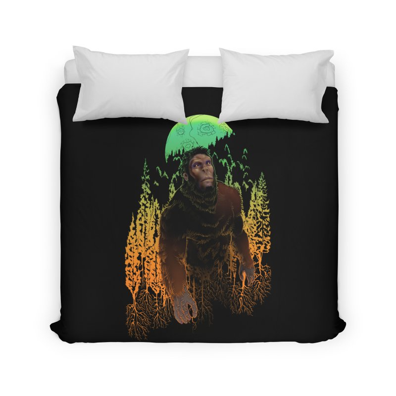 Sasquatch Home Duvet by Ayota Illustration Shop
